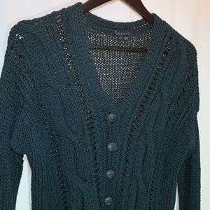 Theory Cable Knit Cardigan Size S